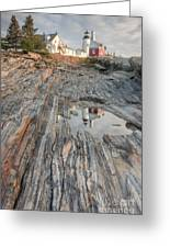 Pemaquid Point Light Iv Greeting Card