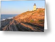 Pemaquid Point Lighthouse Bluffs Greeting Card