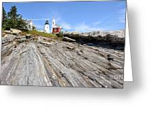 Pemaquid Point Lighthouse In Maine Greeting Card