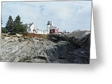 Pemaquid Point Lighthouse Greeting Card by Joseph Rennie