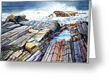 Pemaquid Rocks Greeting Card