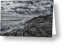 Pemaquid Seas Greeting Card
