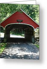 Pemigewasset River Bridge Greeting Card