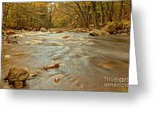 Pemigewasset River Rushing By Greeting Card