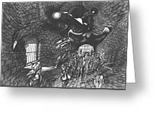 Pen And Ink World 5 Greeting Card