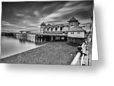 Penarth Pier 1 Mono Greeting Card