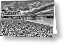 Penarth Pier 2 Mono Greeting Card