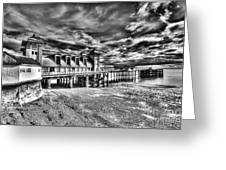 Penarth Pier 6 Monochrome Greeting Card
