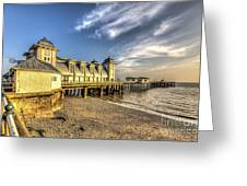 Penarth Pier Dawn 2 Greeting Card
