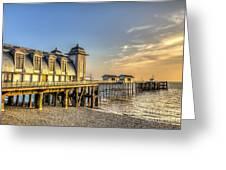 Penarth Pier Dawn Greeting Card