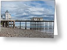 Penarth Pier Panorama 1 Greeting Card