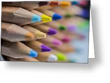 Pencils Colored Macro 5 Greeting Card