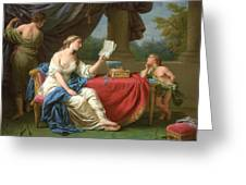 Penelope Reading A Letter From Odysseus Greeting Card