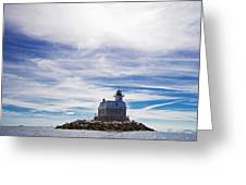 Penfield Reef Lighthouse Fairfield Connecticut Greeting Card