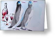 Penguins Greeting Card