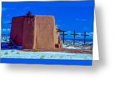 Penitente Morada Christian Church At Abiquiu New Mexico Greeting Card