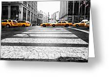 Penn Station Yellow Taxi Greeting Card