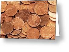 Pennies Greeting Card