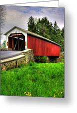 Pennsylvania Country Roads - Forry's Mill Covered Bridge - Lancaster County Spring No. 2 Greeting Card