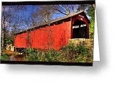 Pennsylvania Country Roads - Wagoners Covered Bridge Over Bixlers Run - Perry County Greeting Card