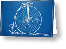 Penny-farthing 1867 High Wheeler Bicycle Blueprint Greeting Card