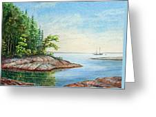 Penobscot Inlet Greeting Card