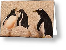 Penquin Family Greeting Card