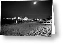 Pensacola Beach At Night Greeting Card