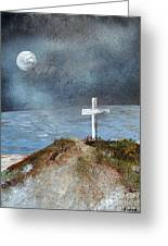 Pensacola Beach By The Light Of The Moon Greeting Card