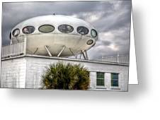 Pensacola Beach Ufo House Greeting Card