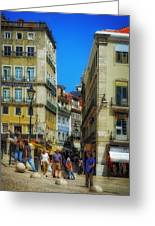 Pensao Geres - Lisbon 2 Greeting Card by Mary Machare