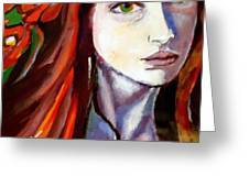 Pensive Lady Greeting Card