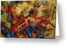 Penstemon Abstract 2 Greeting Card