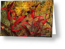 Penstemon Abstract 5 Greeting Card