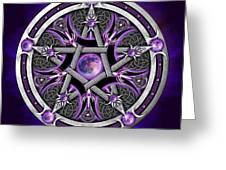 Pentacle Of The Purple Moon Greeting Card