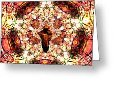 Pentagrammathanatos Severe Beauty Greeting Card