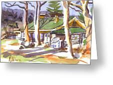 Penuel Lodge In Winter  Greeting Card