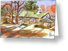 Penuel Lodge In Winter Sunlight Greeting Card
