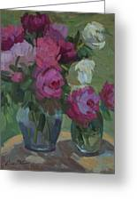 Peonies In The Shade Greeting Card