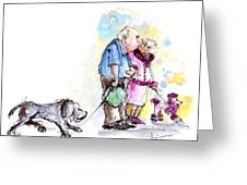 People And Their Dogs 02 Greeting Card