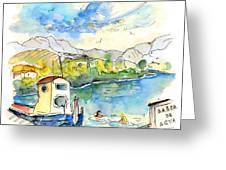People Bathing In Barca De Alva Greeting Card