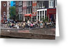 People By The Canal Greeting Card