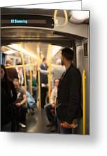 People Commuting Vienna Metro Greeting Card