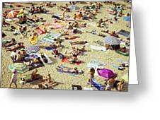 People In The Beach Greeting Card