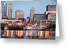 Peoria Illinois Skyline Greeting Card