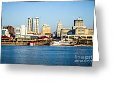 Peoria Skyline And Downtown City Buildings Greeting Card
