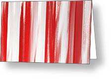 Peppermint Stick Abstract Greeting Card
