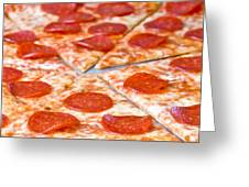 Pepperoni Pizza Greeting Card