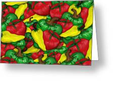 Peppers And Tomatos Greeting Card