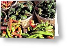Peppers By The Bushel Greeting Card